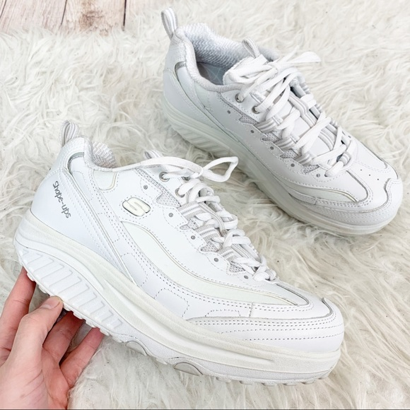 chunky white skechers